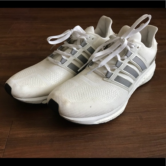 Mens Adidas Energy Boost 3 White Sz 13